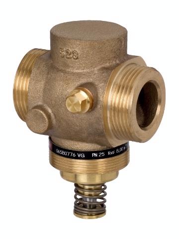 Регулятор давления AVD вода 1-5 бар, резьба DN 15, бронза